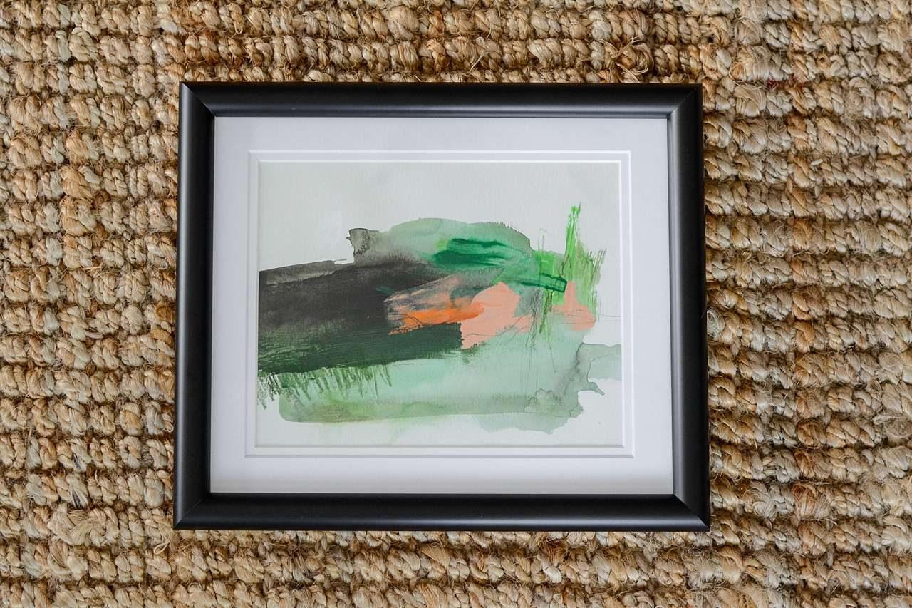 double mat style framed art