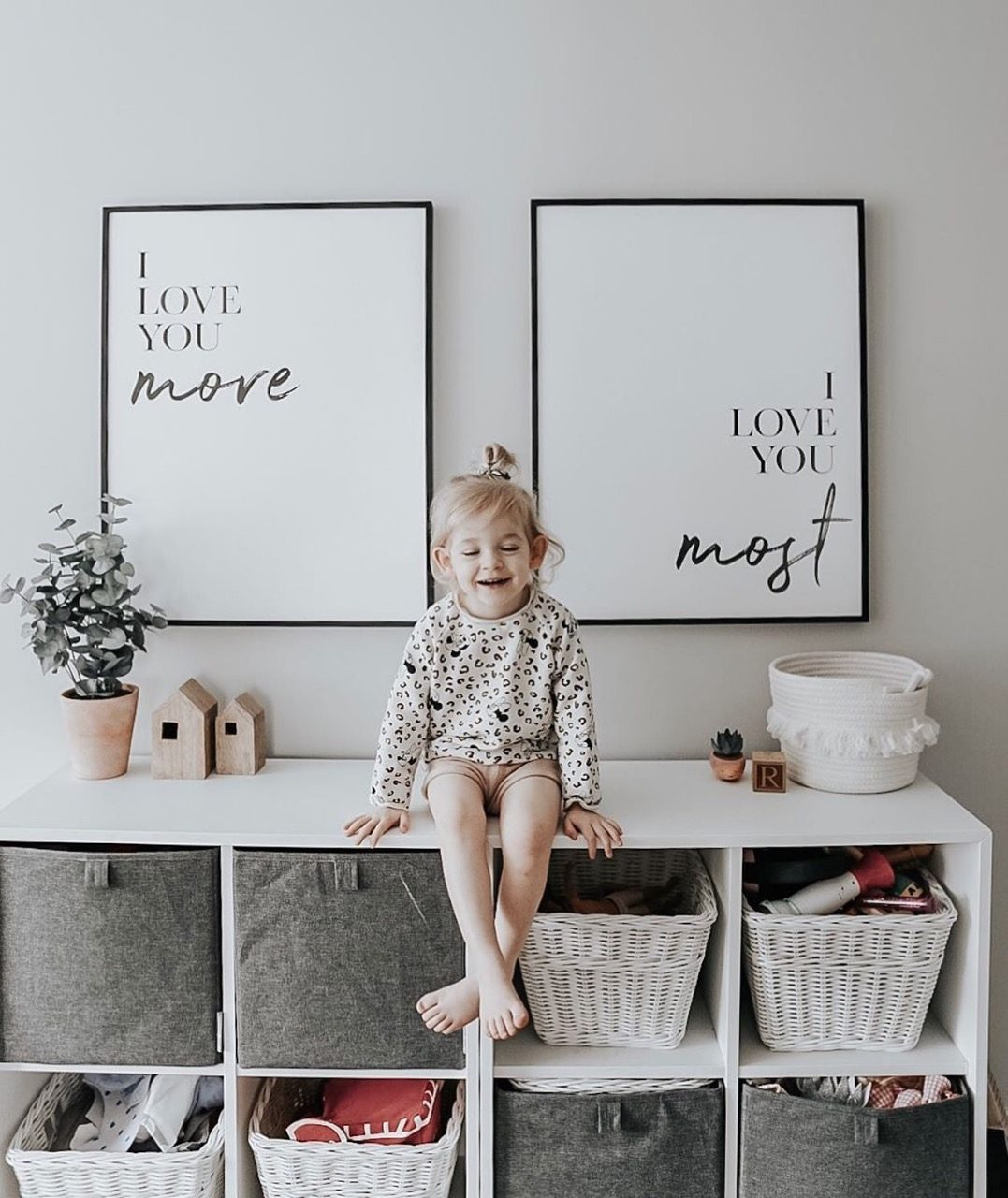 I love you more/ I love you most poster frames