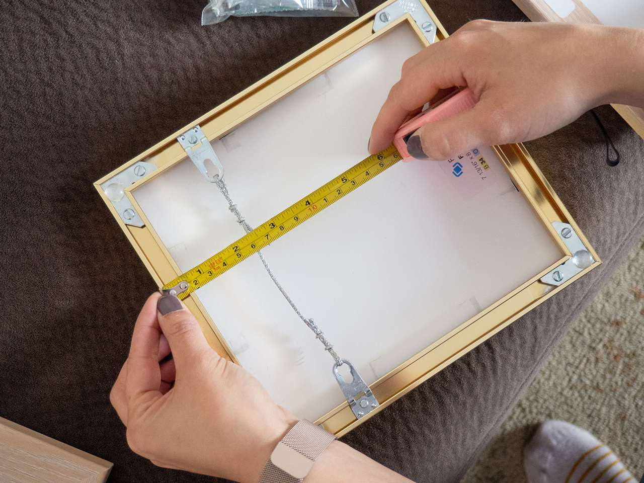 measuring the outside of the frame