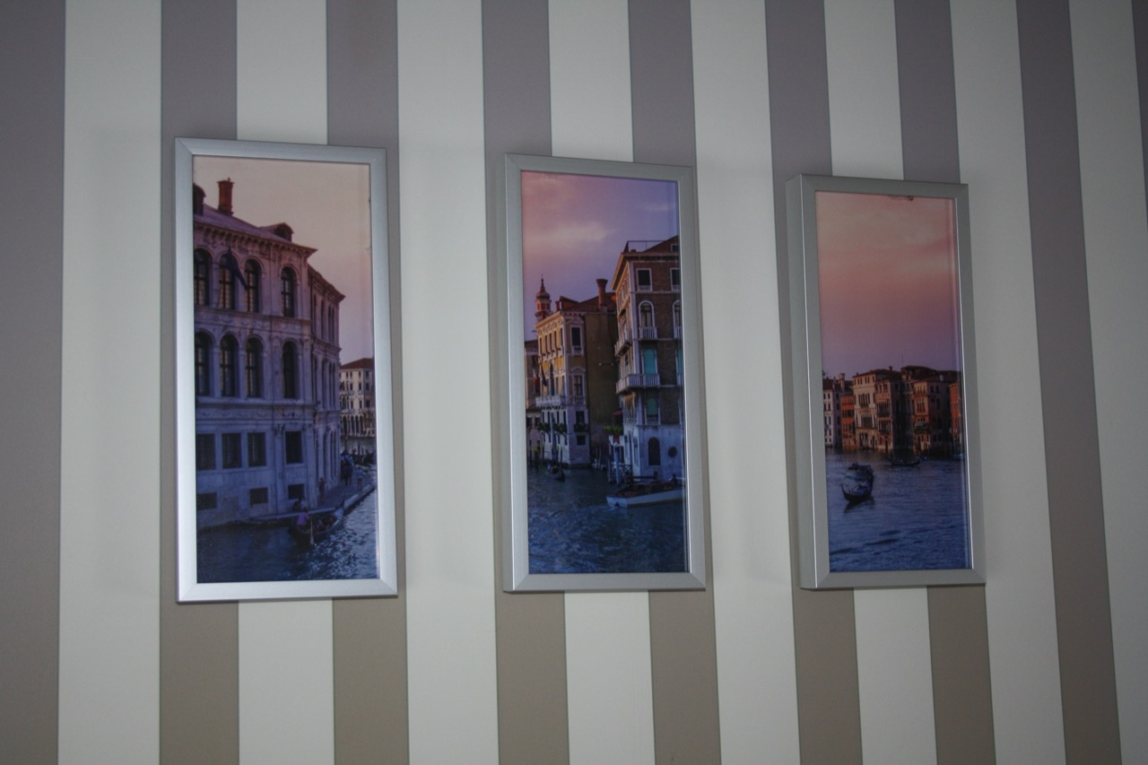 3 Split pictures of Venice