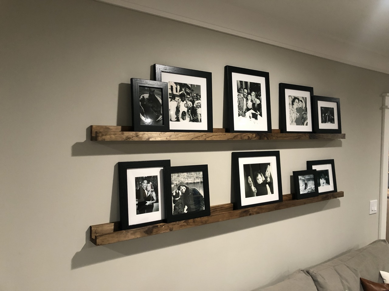 frames with and without matting