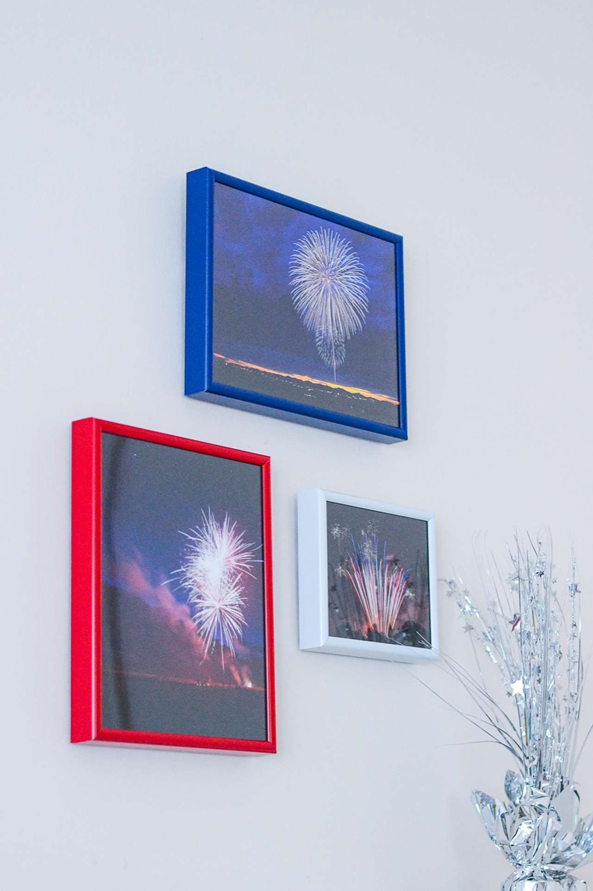 red white and blue frames