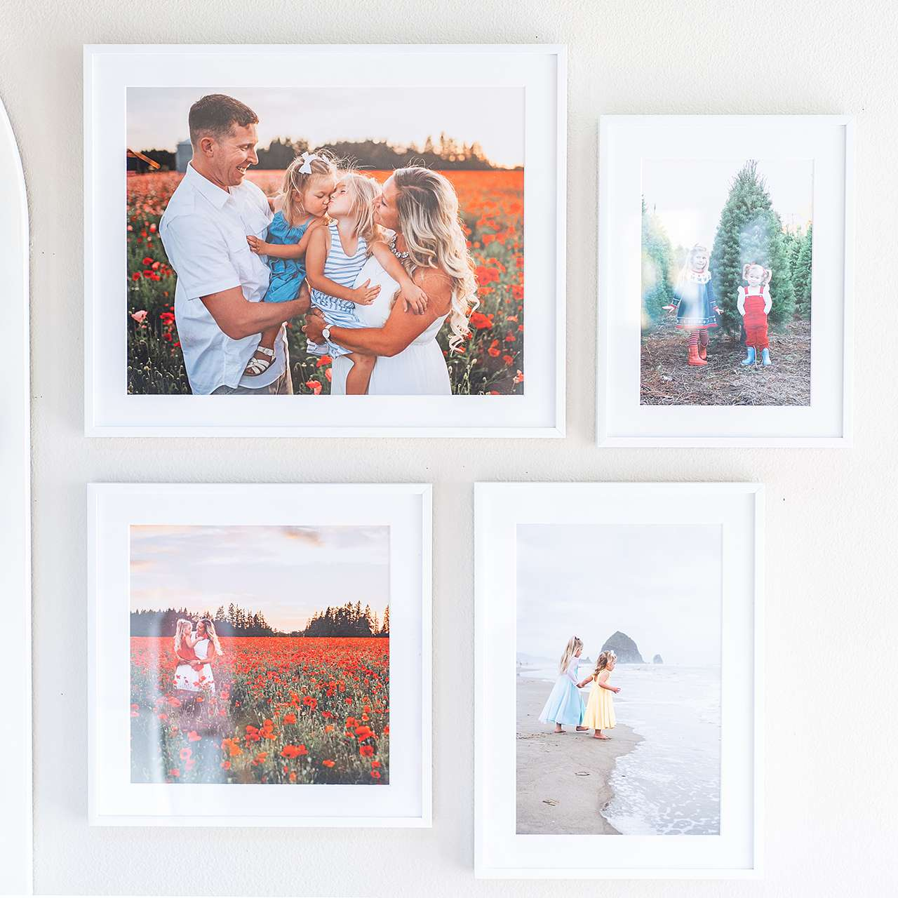 framed family photos