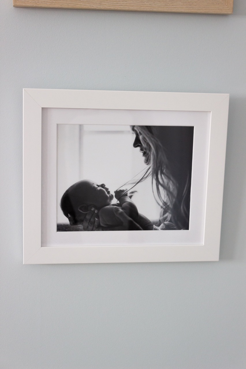 small white frame for black and white photo