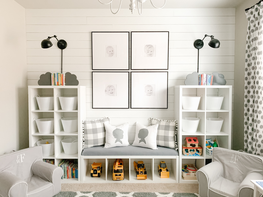 large frames in play room