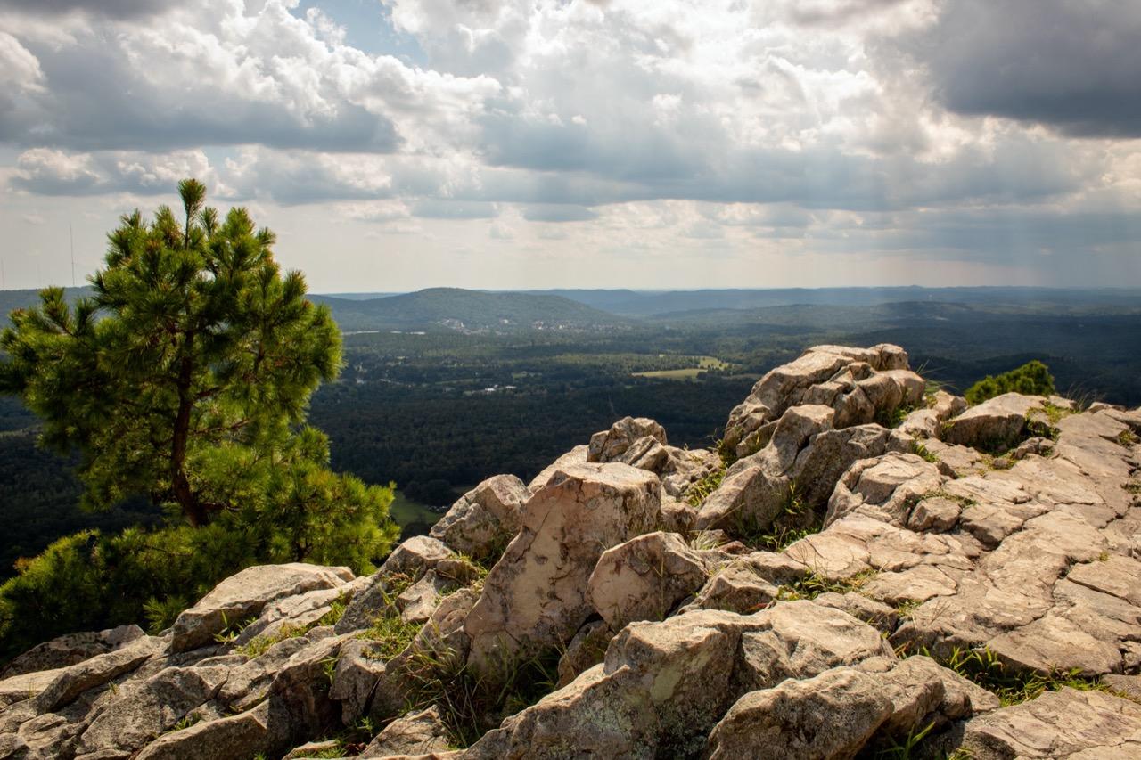 Mountain peak in Arkansas