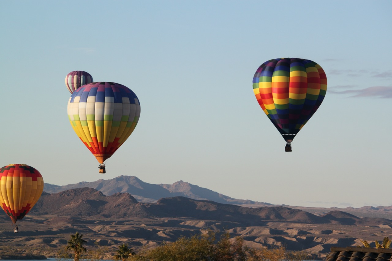 hot air balloons in Arizona