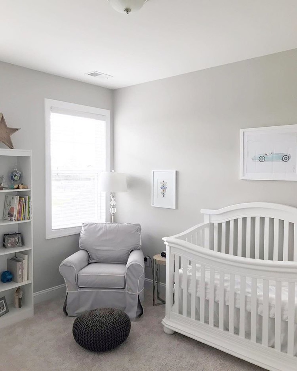 Lighting and seating in nursery