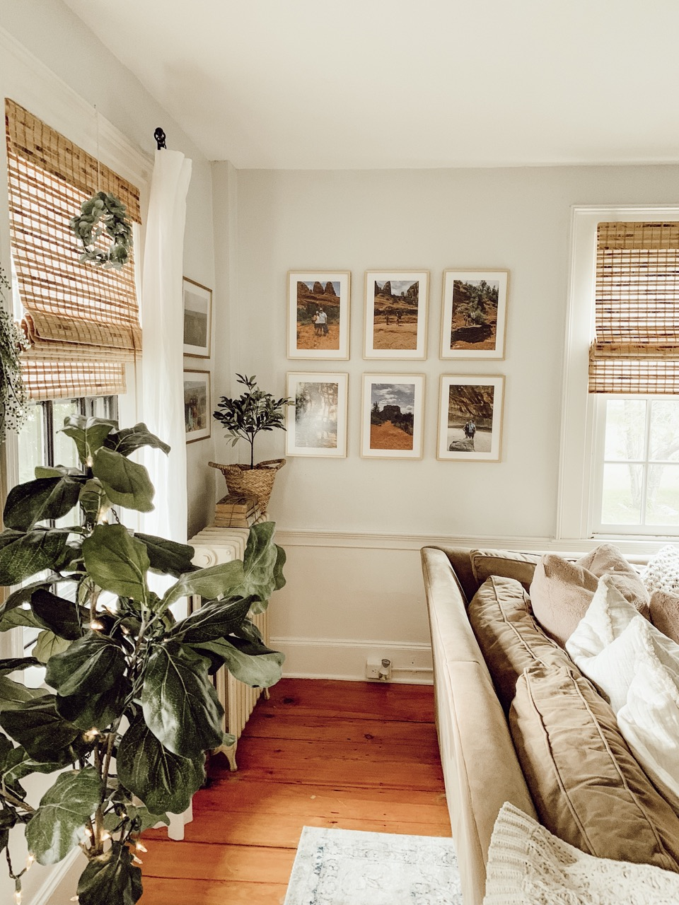 Gallery wall in living