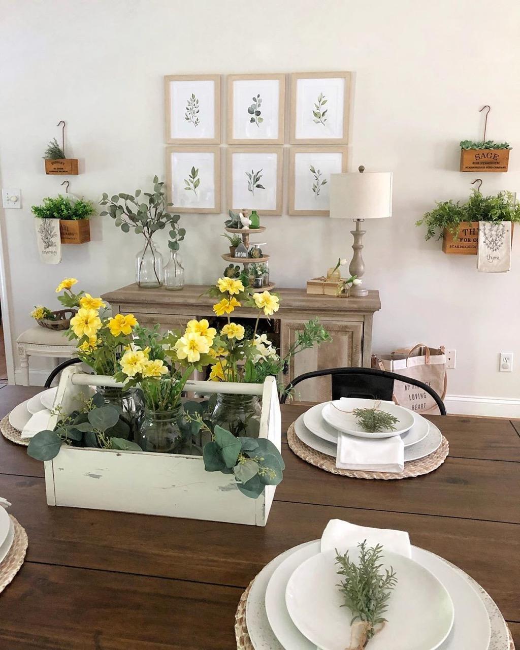 Illustration of flowers for kitchen decor