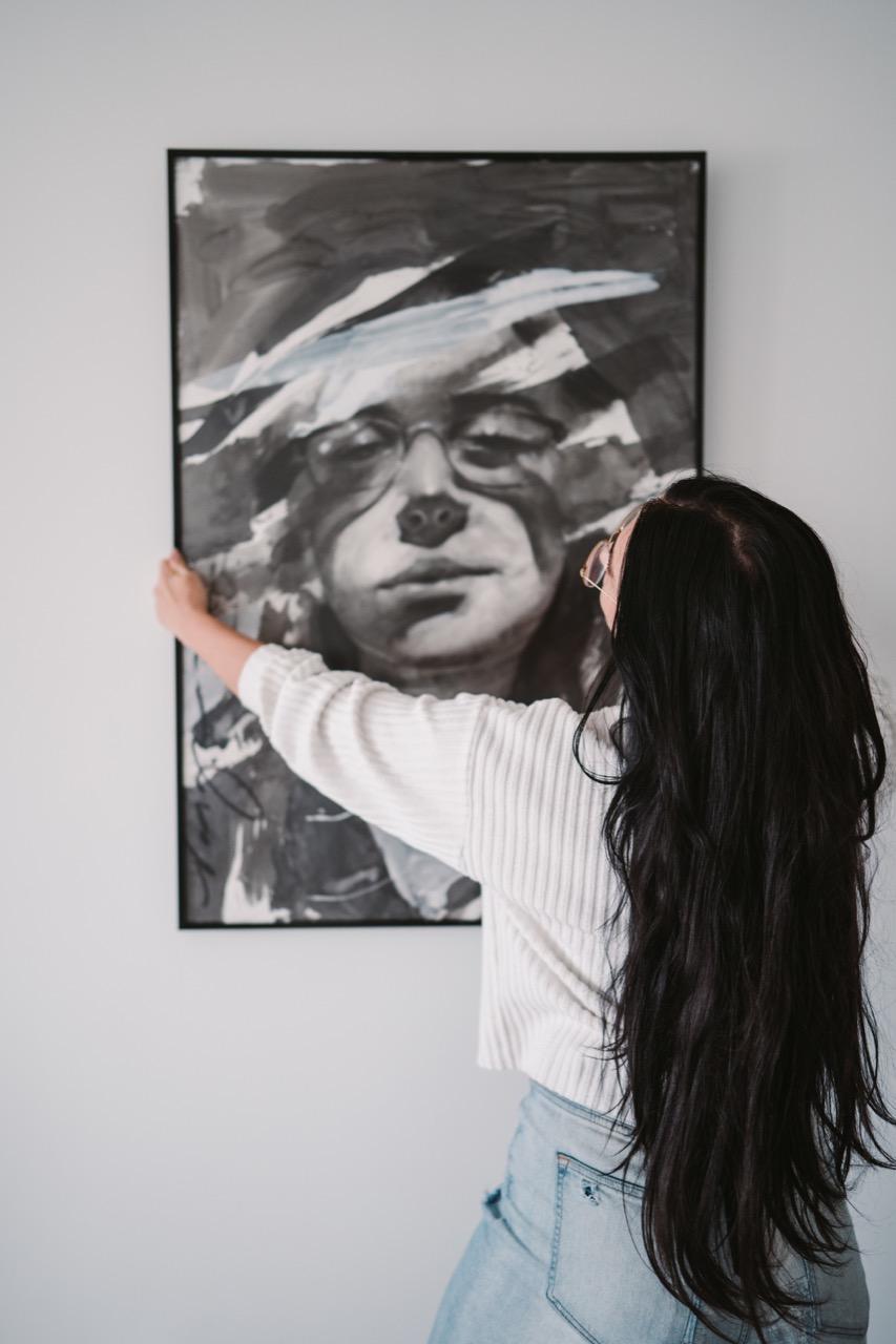 hanging large frame