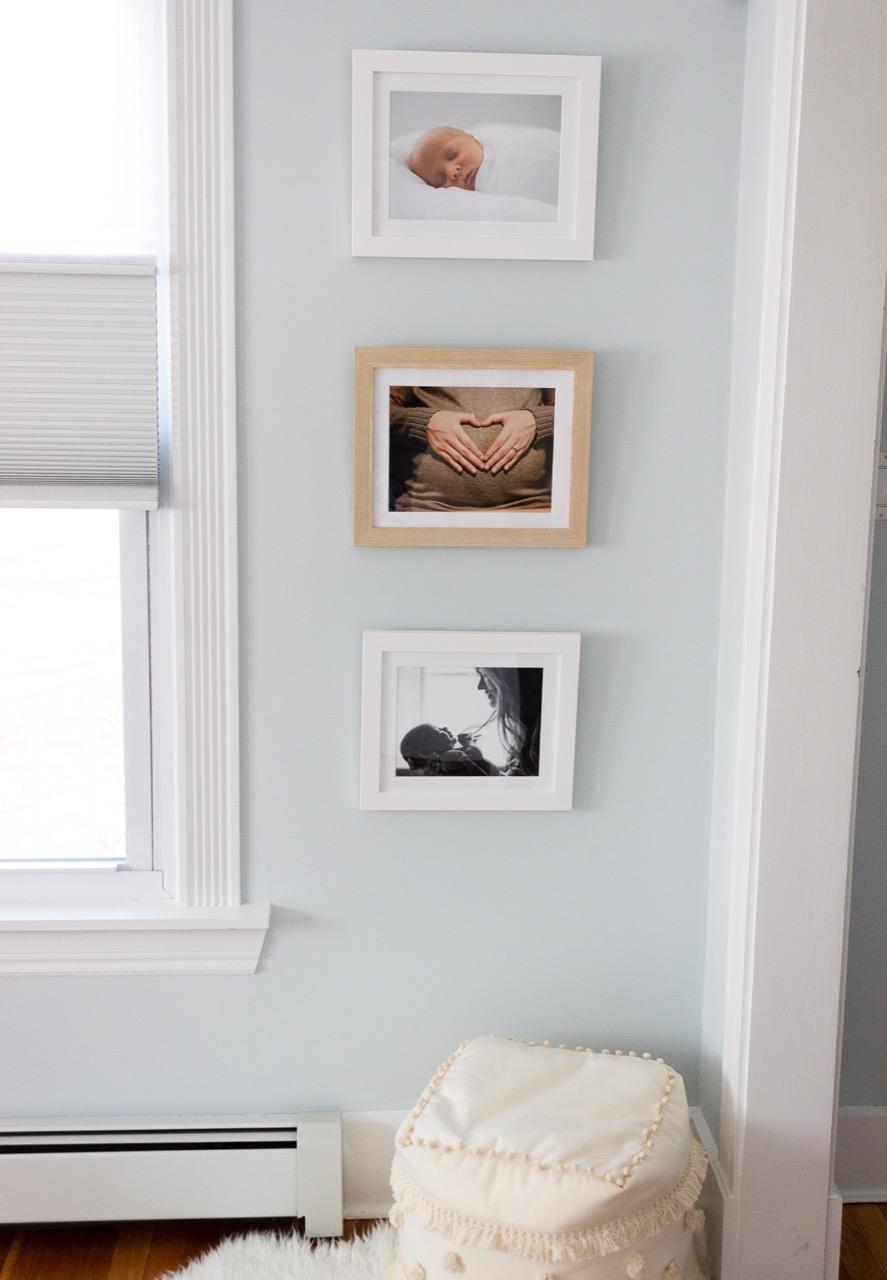 Nursery decor of newborn photos