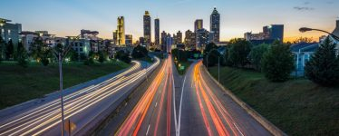 nighttime in Atlanta