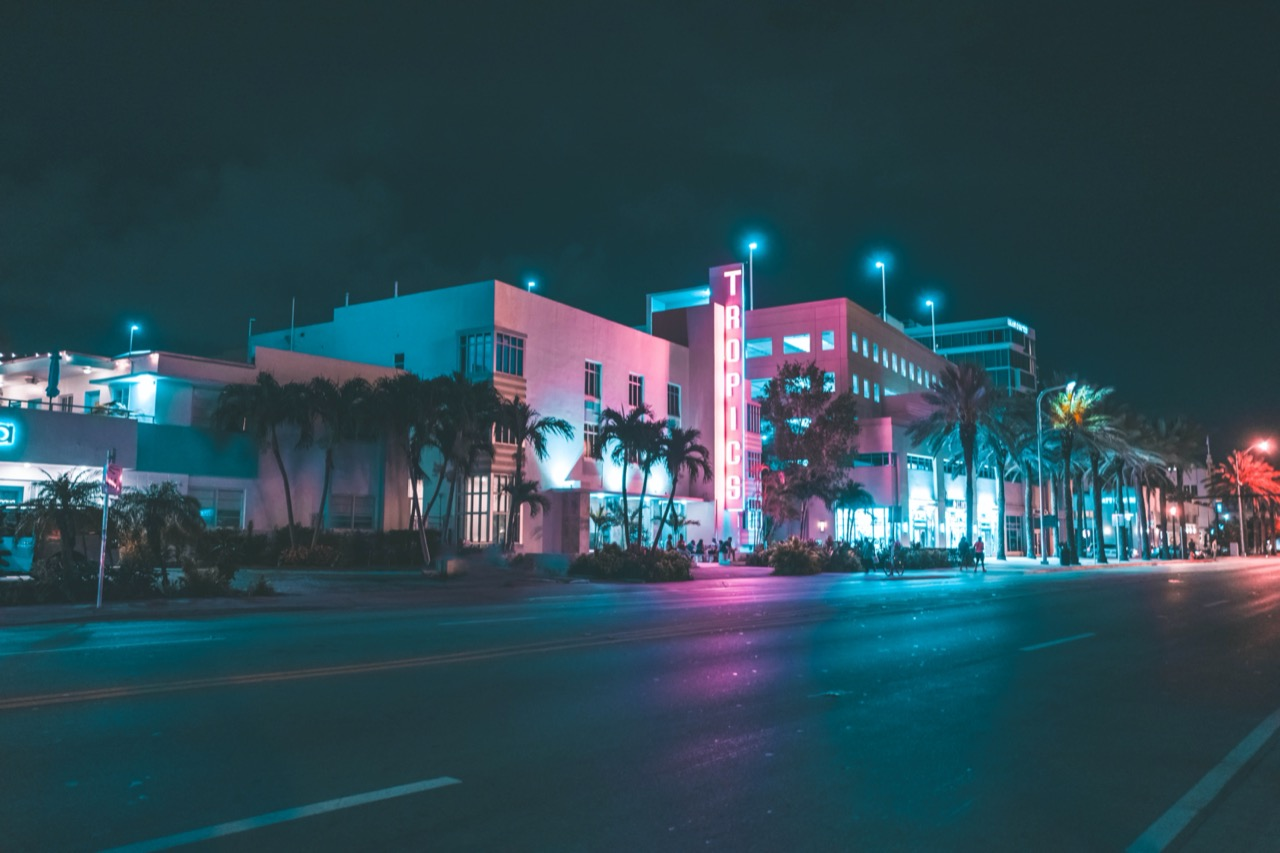 Miami nightlife travel photography