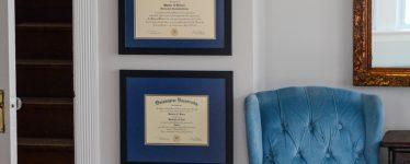 hanging diplomas