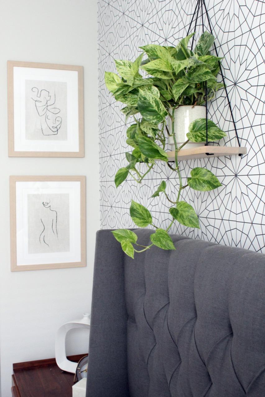 line art wall decor