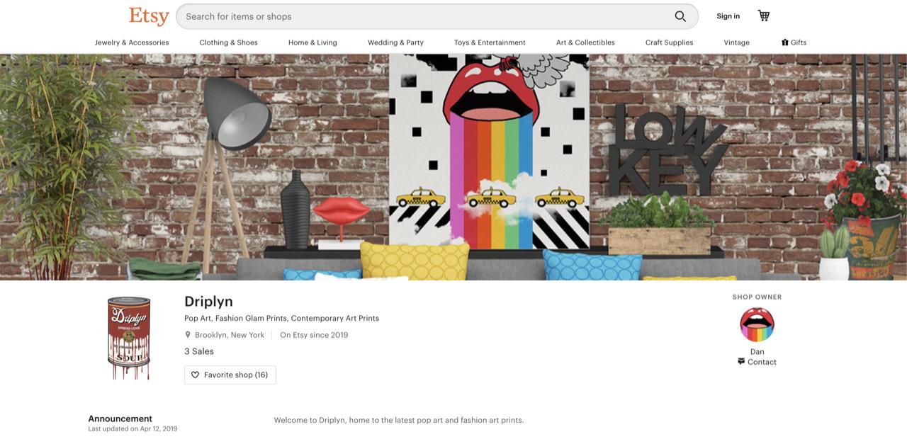 Driplyn homepage