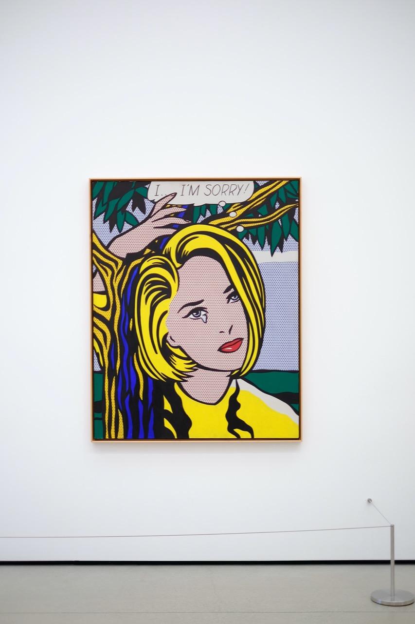 framed piece by Roy Lichtenstein