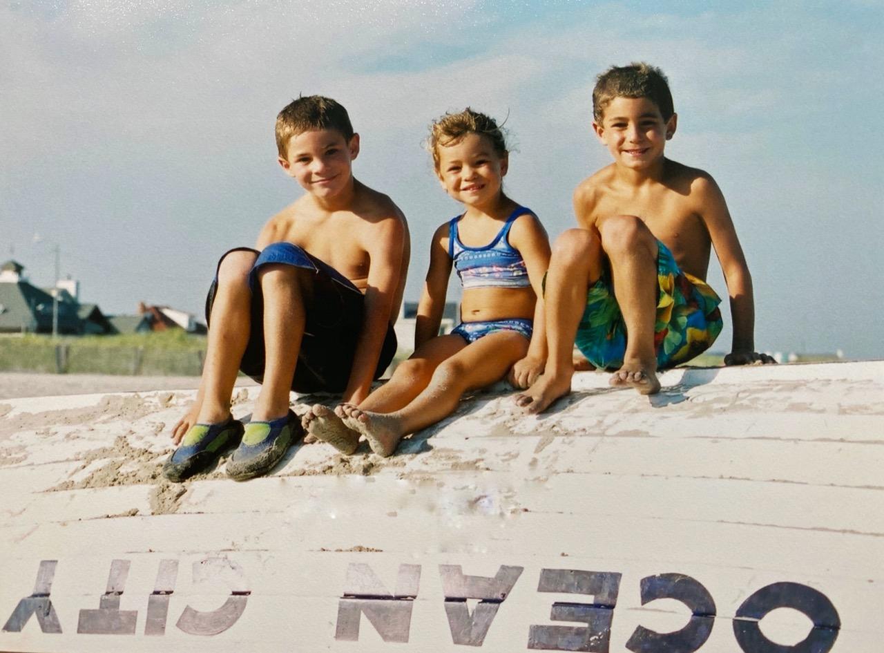 3 kids at Ocean City