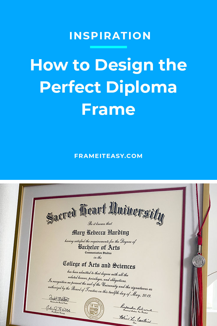The Perfect Diploma Frame