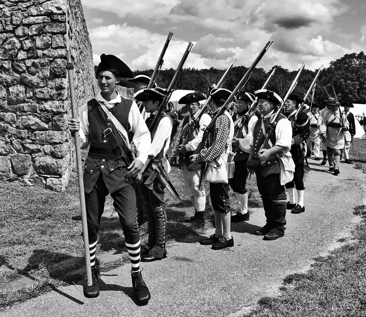 Reenactment of French war