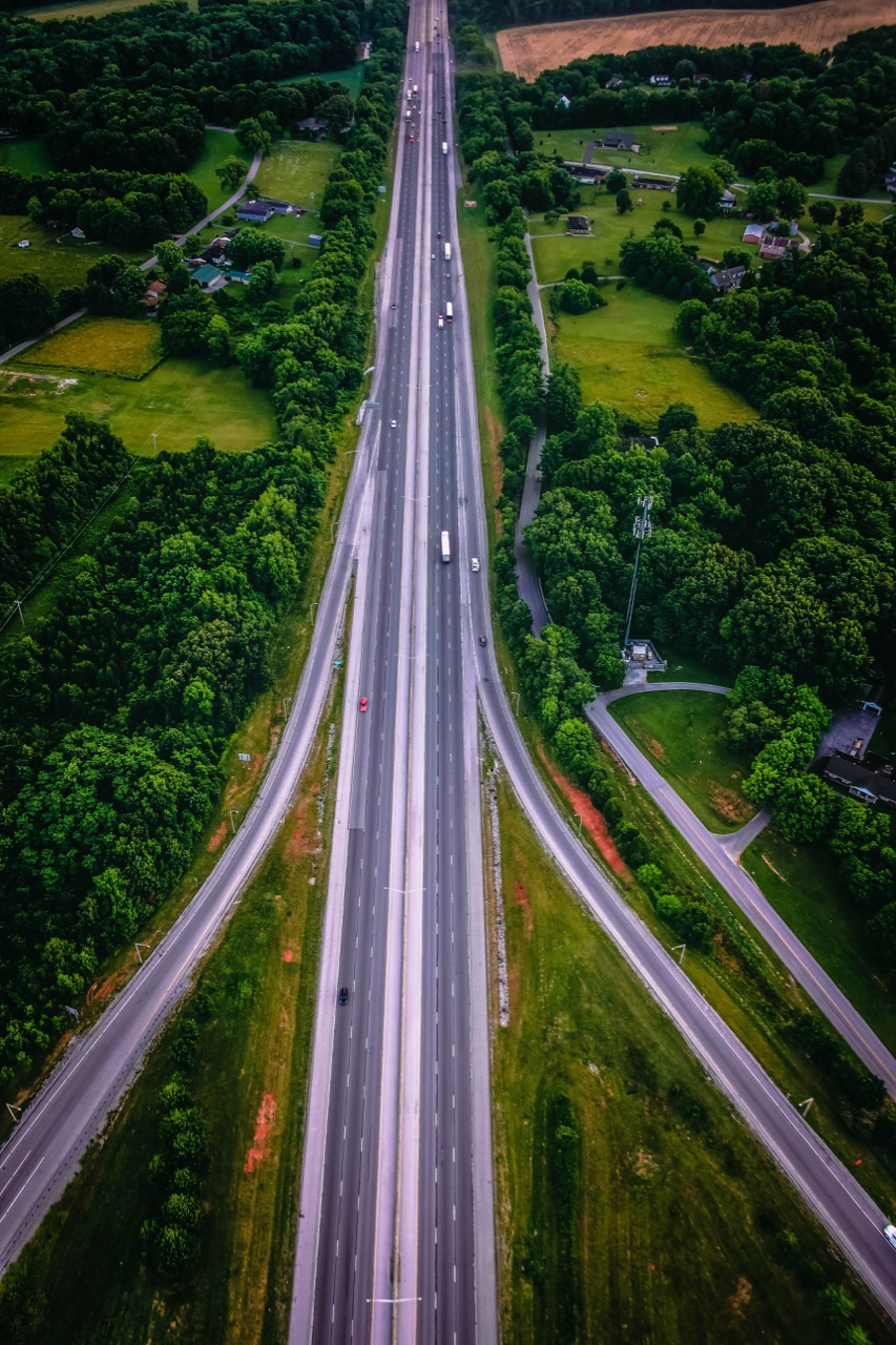 Kentucky highway from above