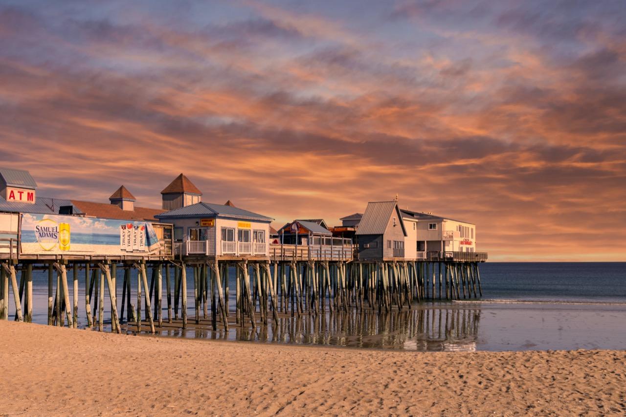 Beach Pier in Maine