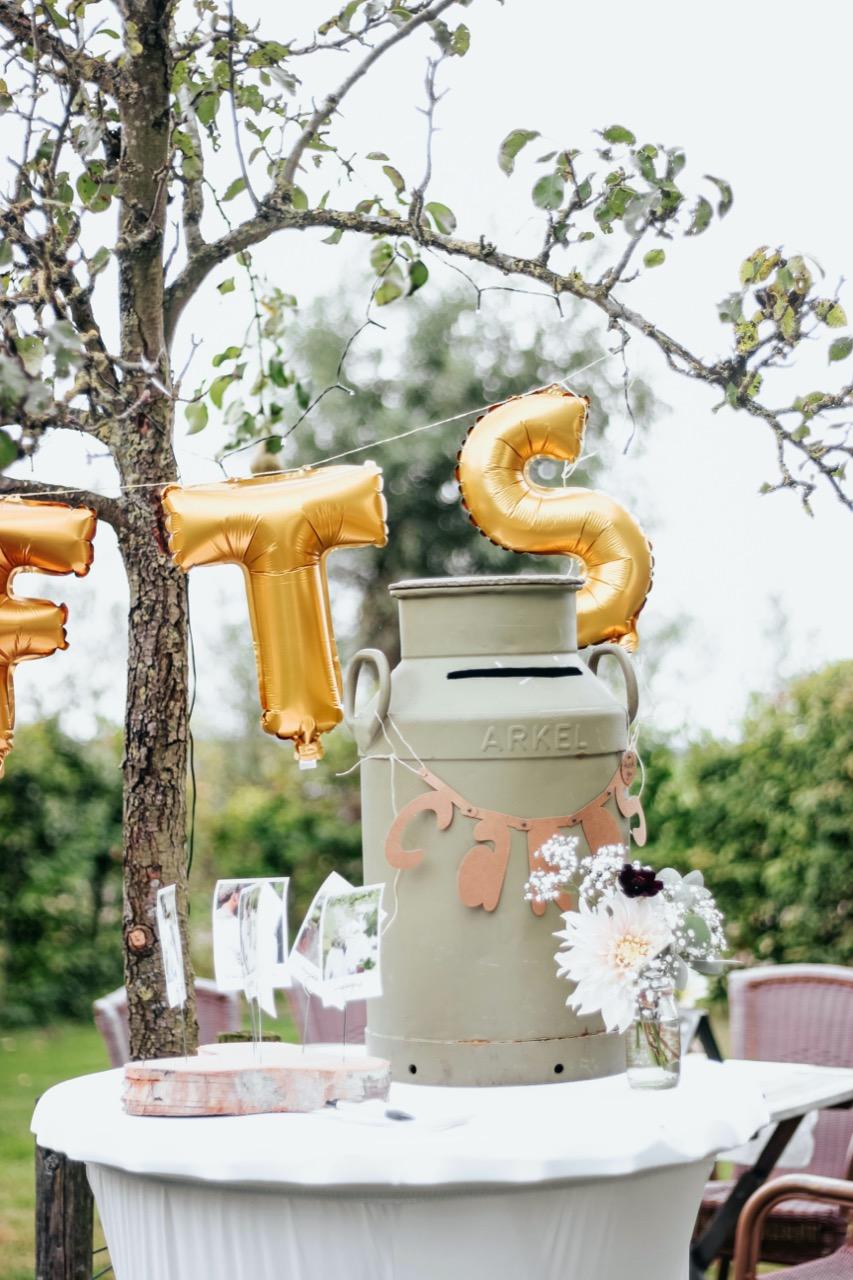 Gift table at wedding