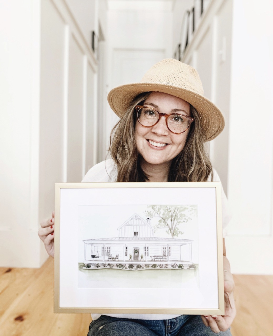 Framed house drawing