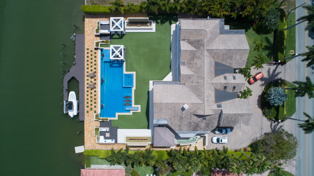 Photo of house from above