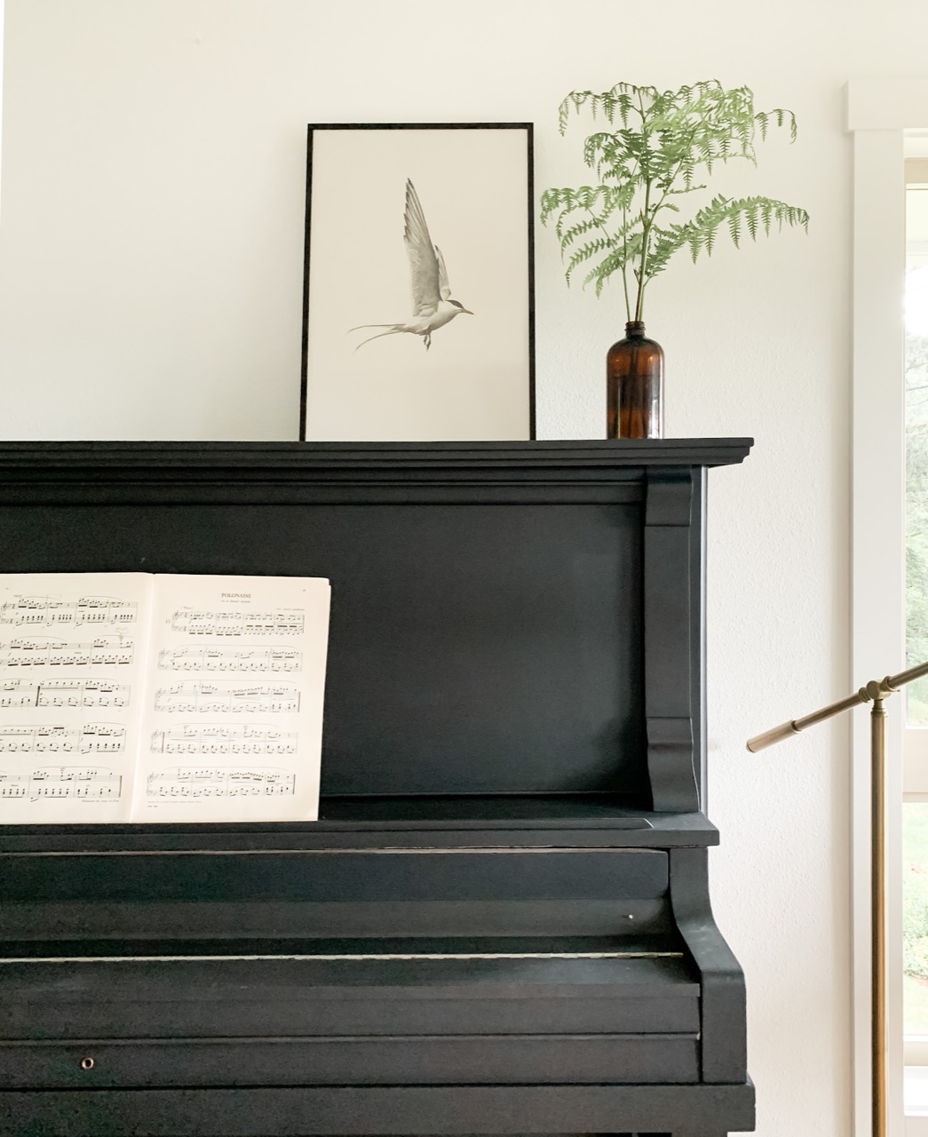 frame on piano