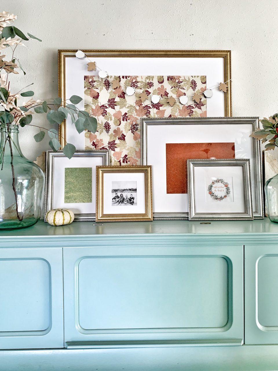 Frame display on dresser