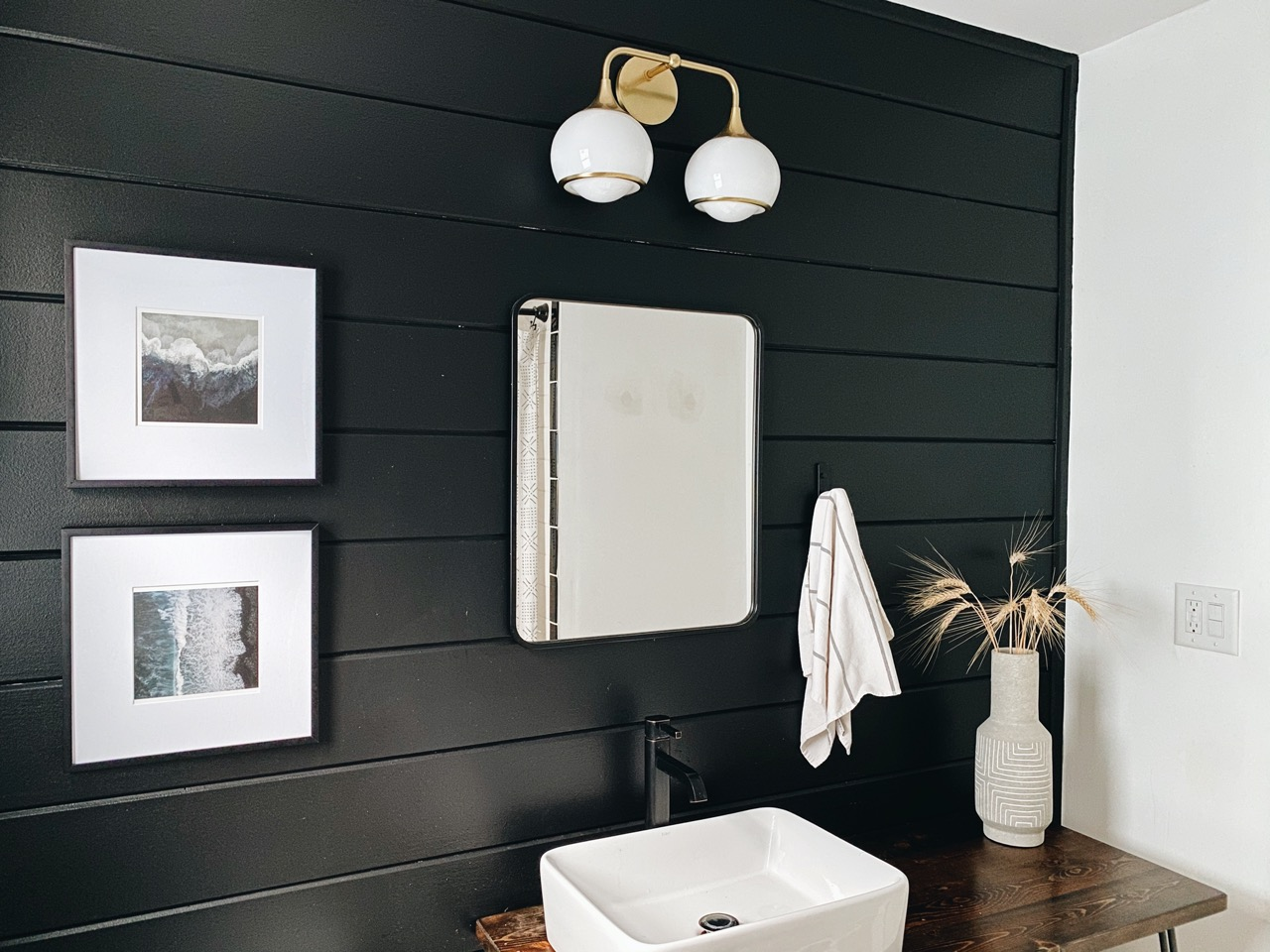 frames in bathroom