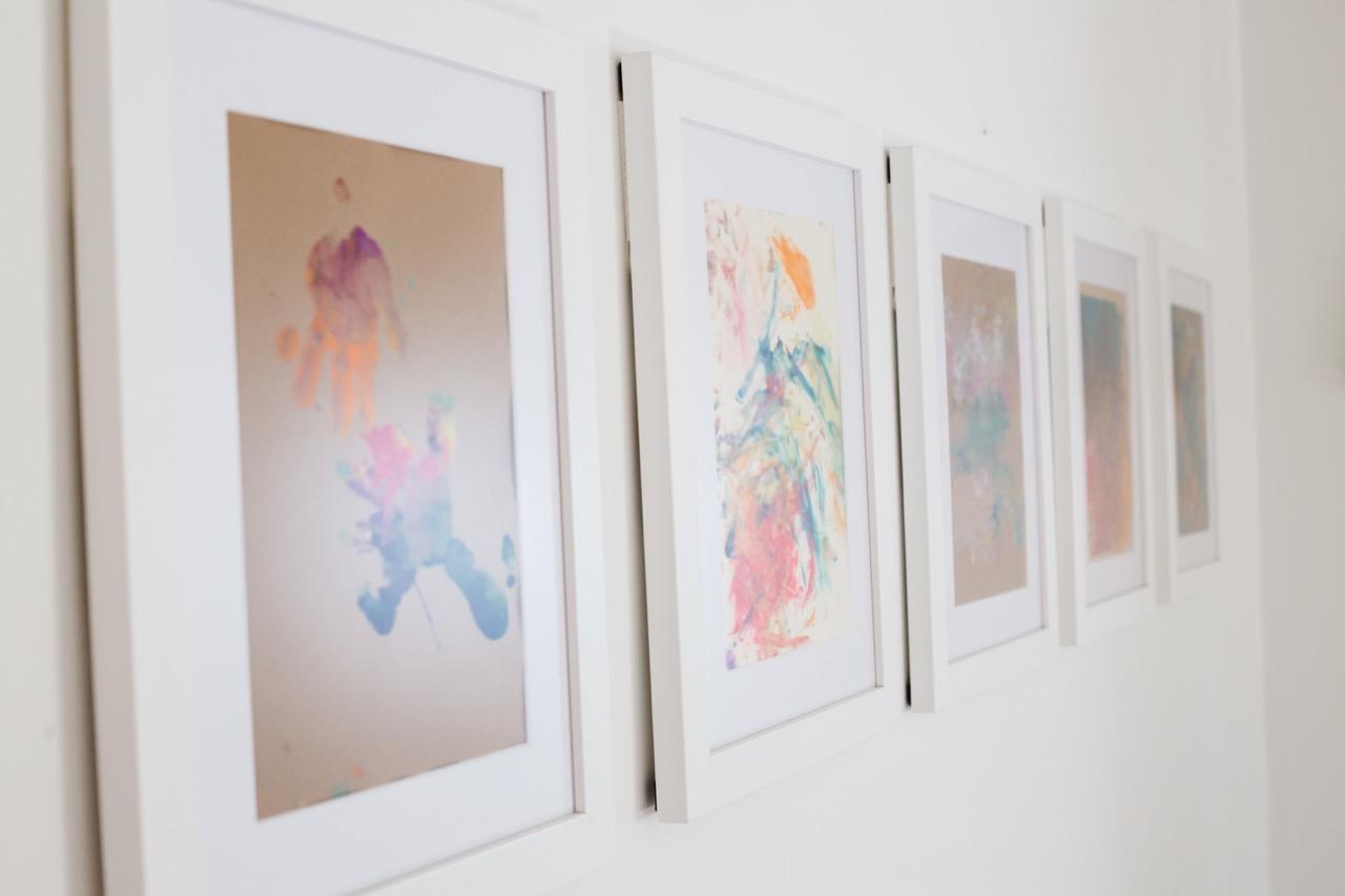 framed kids artwork