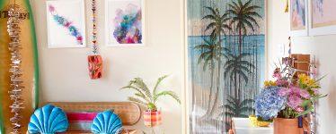 frame and plant decor
