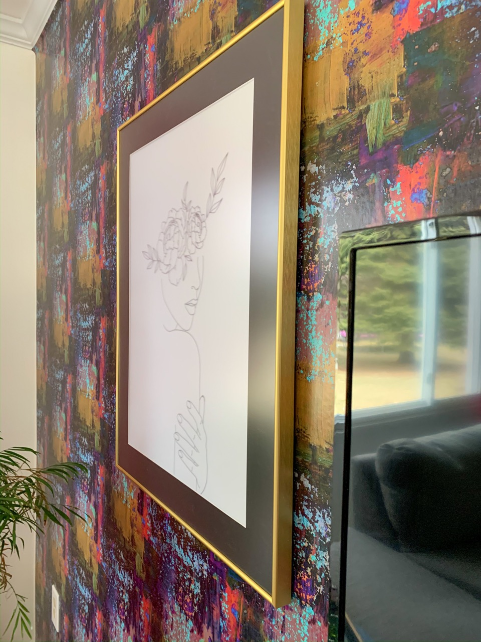 large frame with non-glare cover