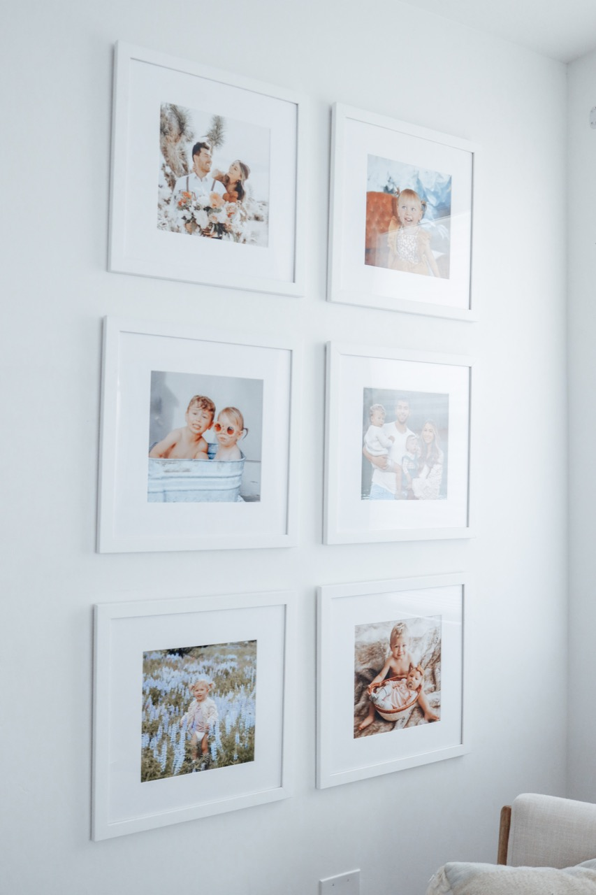 Gallery Wall of family photos
