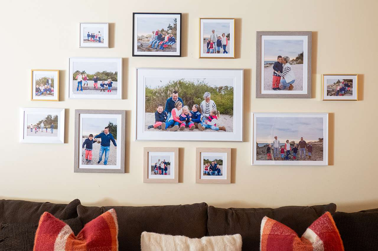large family gallery wall