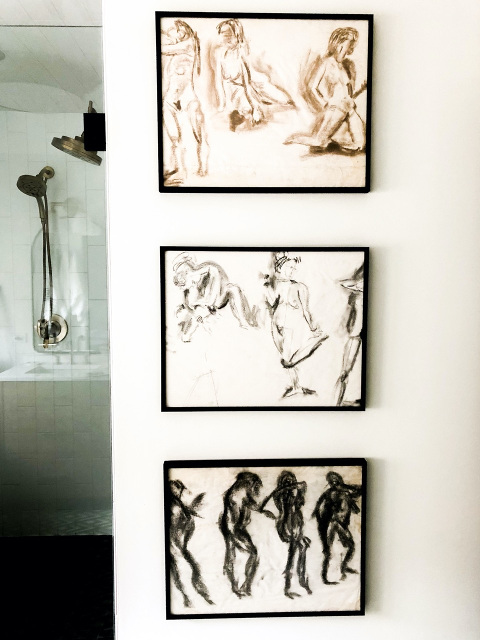 High-resolution art in bathroom