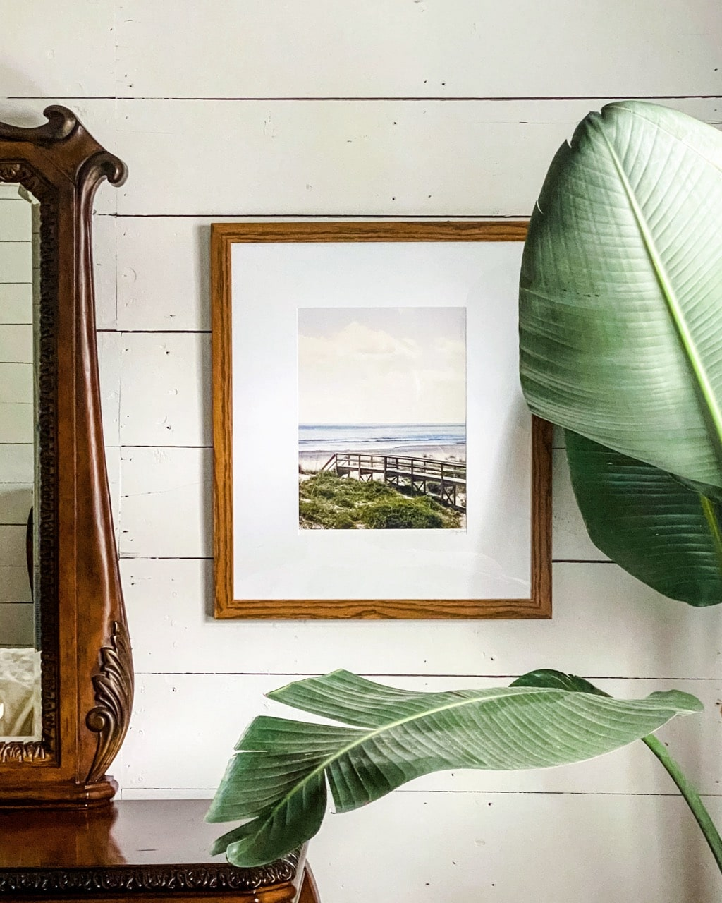 wood frame with large matting
