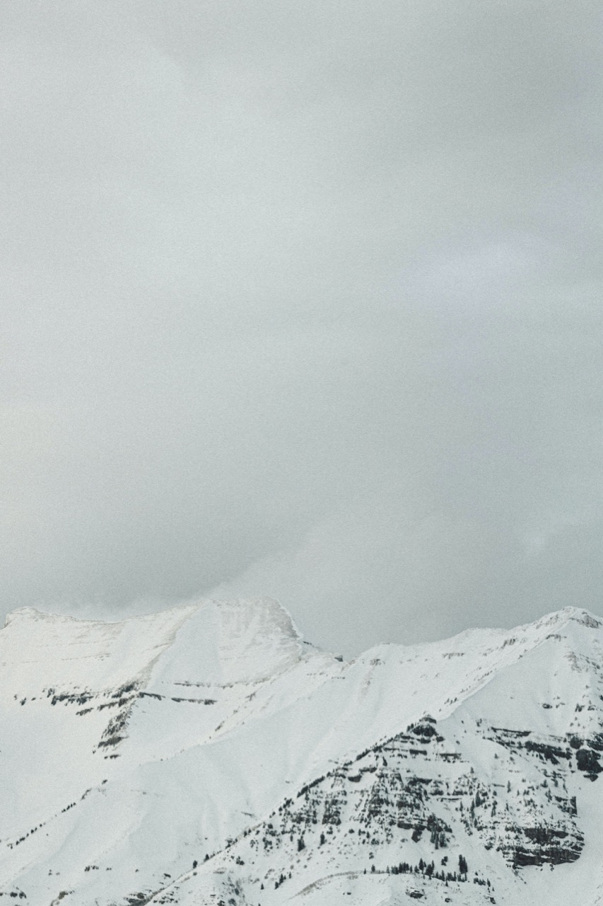 Mountain covered in snow