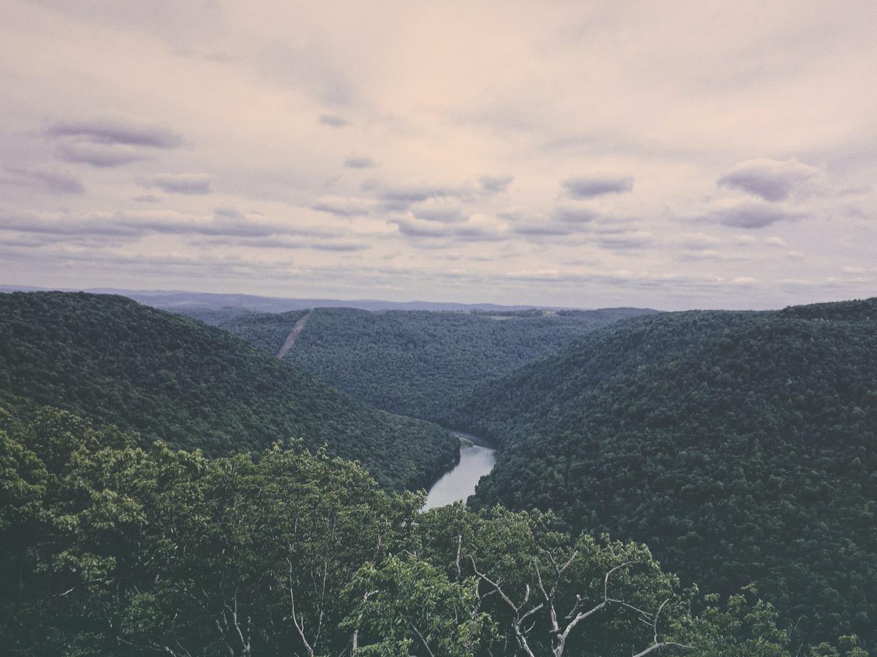 Mountain tops in West Virginia