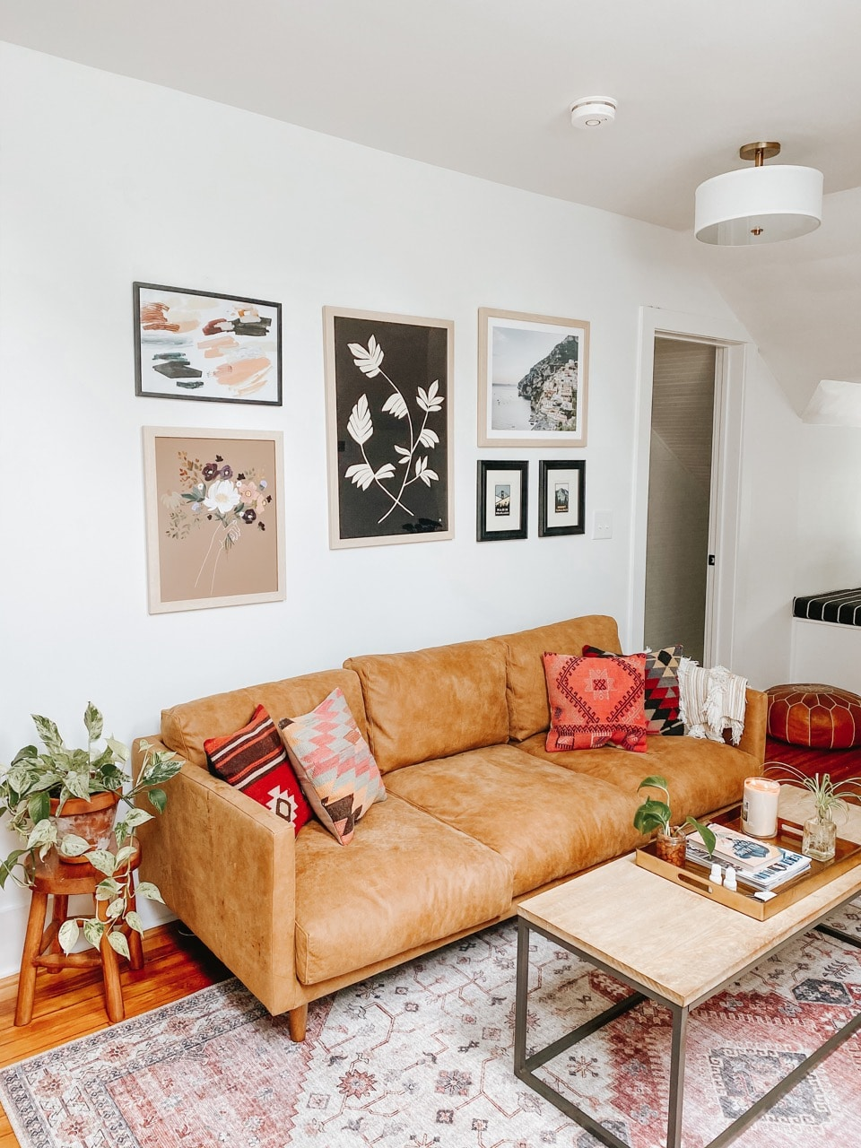 Gallery wall above couch