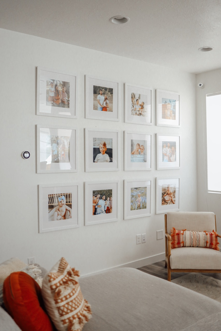 large gallery wall