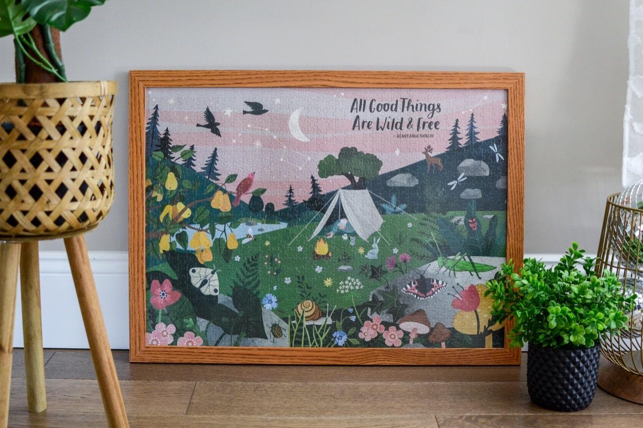 framed puzzle
