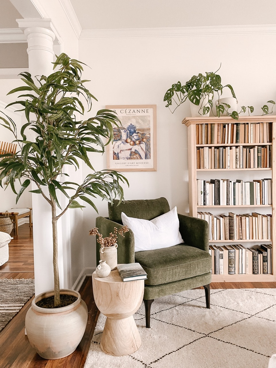 Sage green living room decor