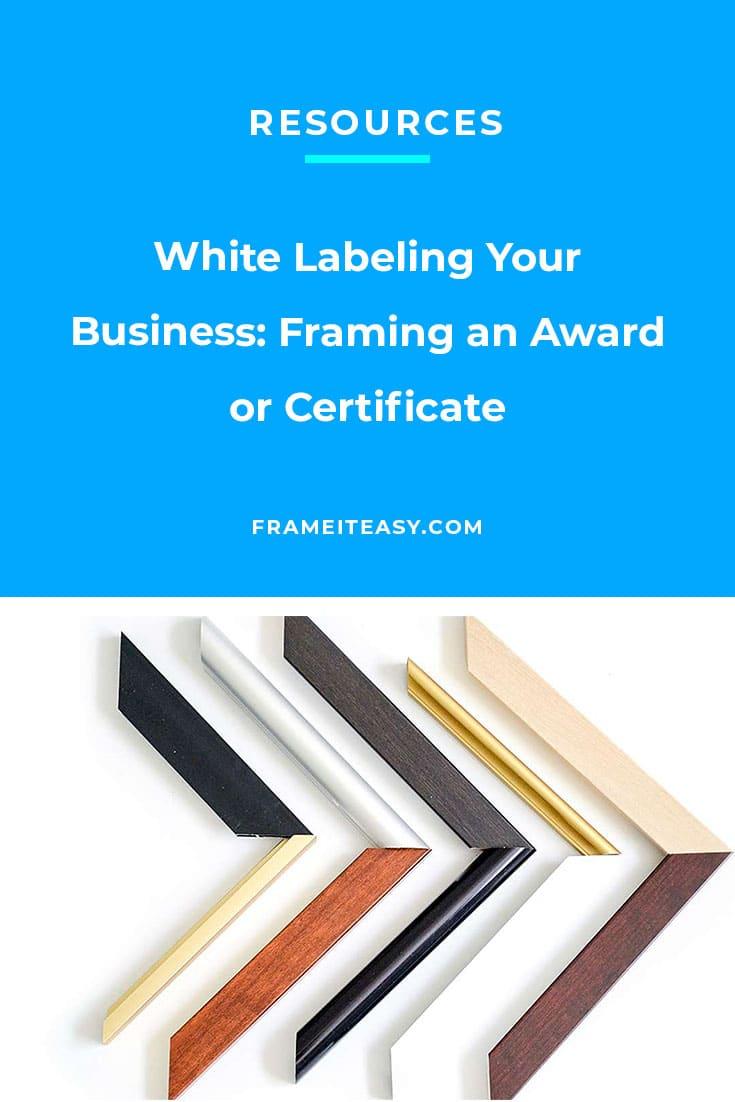 awards or certificate