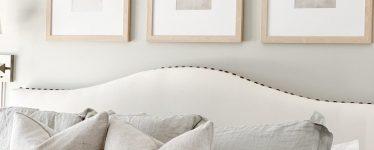 frames above bed