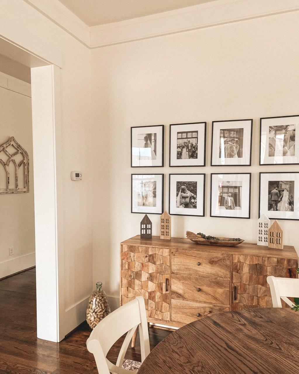 Ashford frame style gallery wall