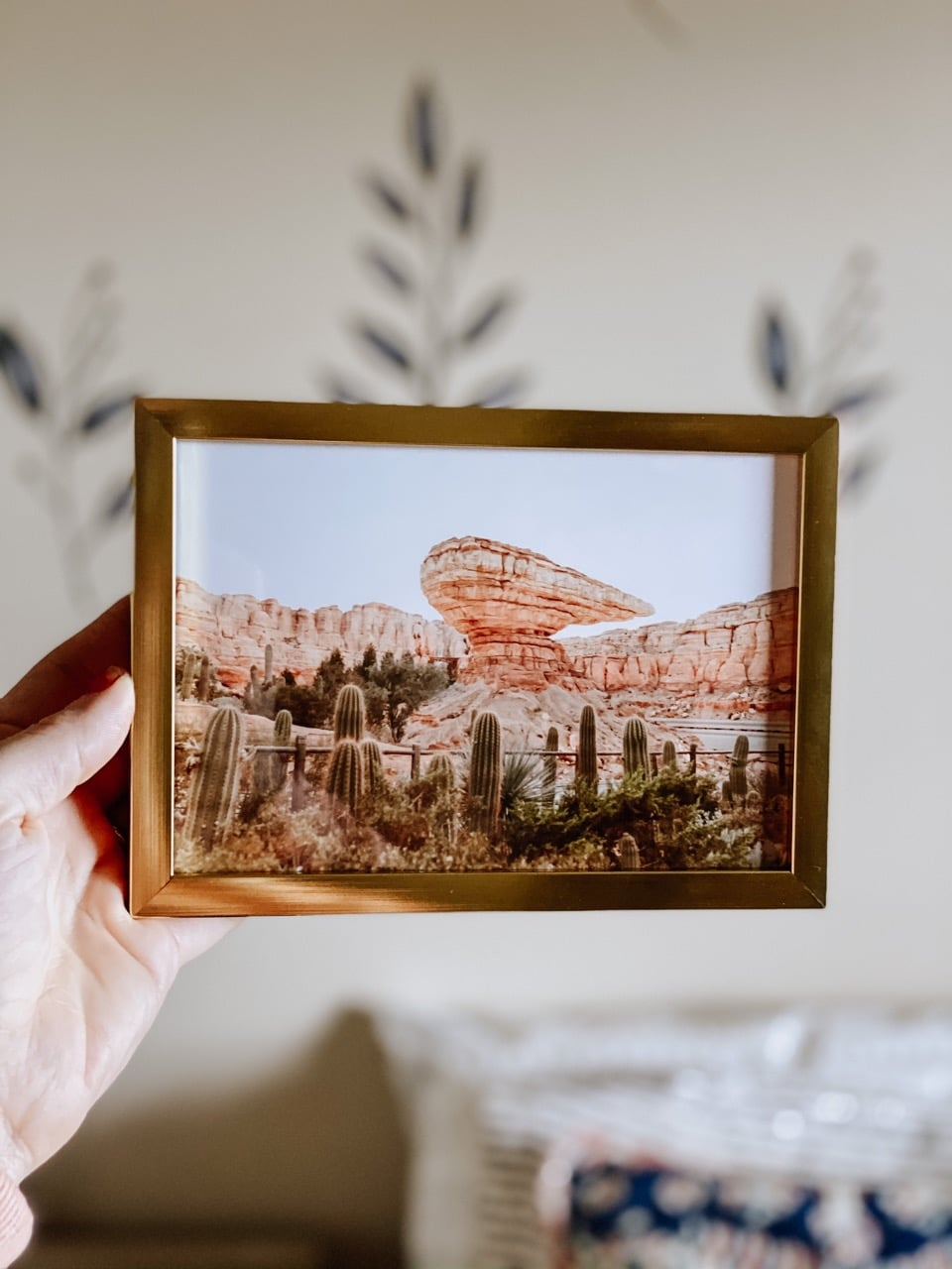small gold frame